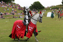 Knight On Horseback At A Joust...