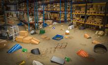 Interior Of A Warehouse Full O...