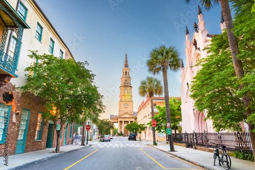Charleston, South Carolina, USA view of the French Quarter Fototapet