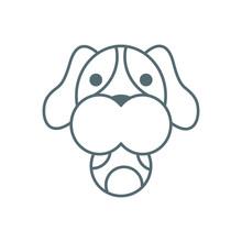 Cute Little Dachshund Head Wit...