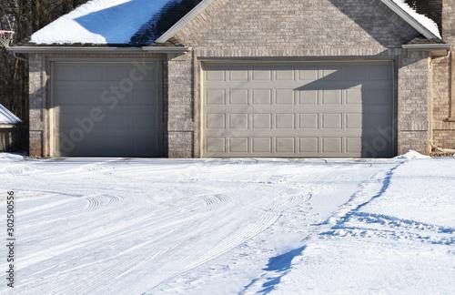 Fotografía  Snowy Driveway