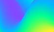 Leinwandbild Motiv Modern colorful blue and green abstract soft 3D flow shapes. Liquid wave gradient background.