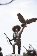 Soldiers Statue With An Eagle On His Hand