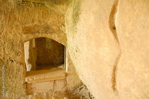 Fotomural Sassi of Matera with arched ceilings and vaults