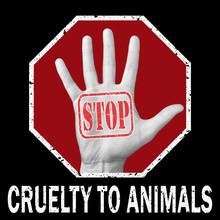 Stop Cruelty Animals Conceptua...