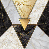 abstract art deco background, geometric pattern, modern mosaic inlay, creative textures of marble granite and gold, artificial stone, artistic marbled tile surface, fashion marbling illustration - 302513551