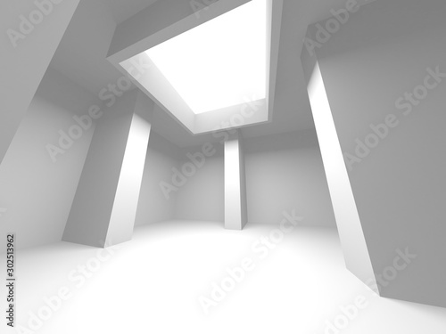 Futuristic White Architecture Design Background