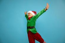 Boy  In Santa's Elf Costume