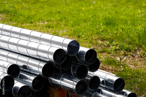 Fotografia There are pipes for ventilation systems
