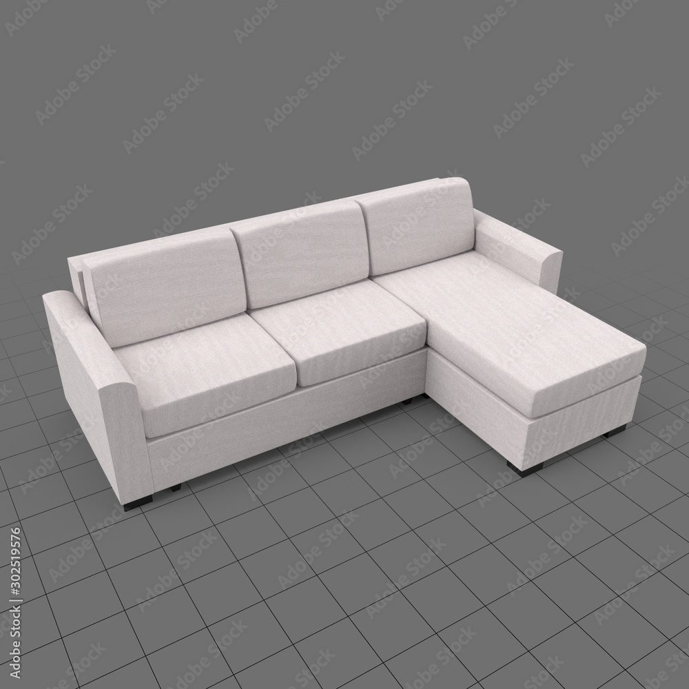 Fototapeta Modern corner sofa