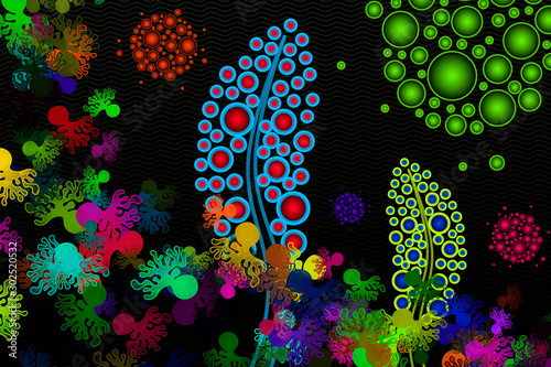 Photo Synthetic Biology - Synthetic Microecosystem - Conceptual Illustration