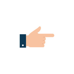 Isolated hand signal icon flat design
