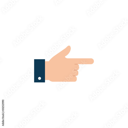 Leinwand Poster Isolated hand signal icon flat design