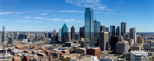 Obraz na plátně Dallas, Texas cityscape with blue sky at sunny day
