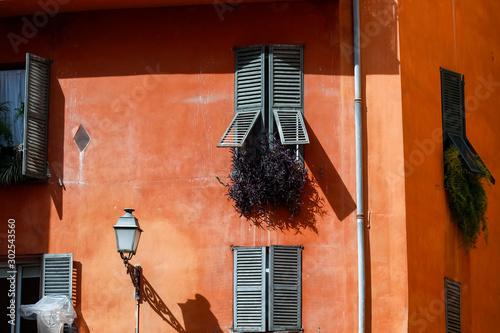 Fototapeta Old facade with shutters obraz