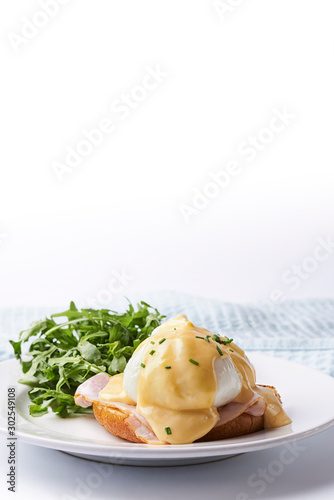 Egg benedict on the plate Canvas Print