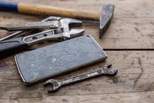 Smartphone Repair Concept. Cra...