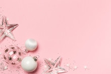 Weihnachtsdekoration Auf Rosa ...