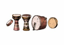 Percussion Instrument Of The Near East.