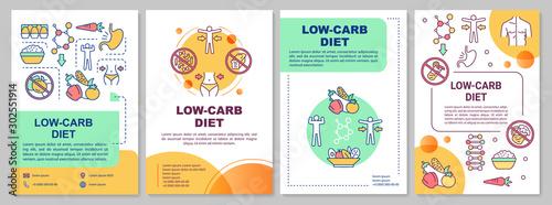 Low carb diet brochure template Wallpaper Mural