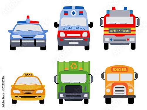 Obraz na plátne Public service vehicles
