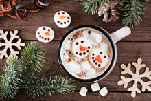 Hot Chocolate With Snowman Mar...