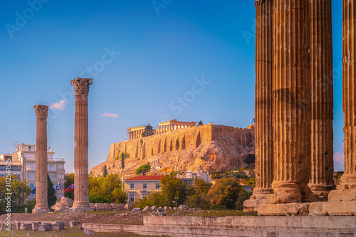 ancient Temple of Olympian Zeus , Athens, Greece Canvas Print