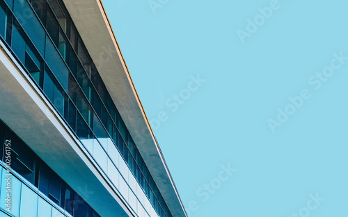 Foto  Business office Glass building architecture with Modern City