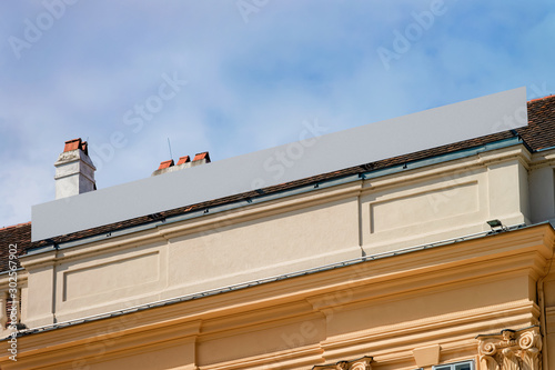 Detail of residential apartment and flat house exterior of Vienna, Austria Wallpaper Mural