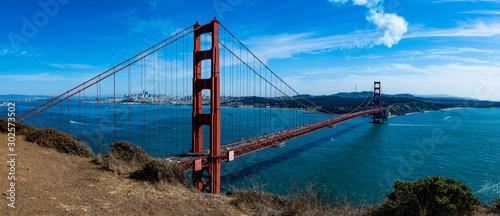 Платно Panoramic of Golden Gate Bridge