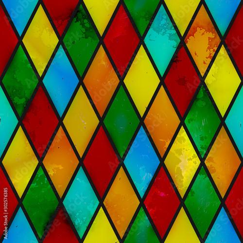 witraz-bezszwowa-tekstura-barwiony-grunge-z-rhombus-wzorem-3d-ilustracja