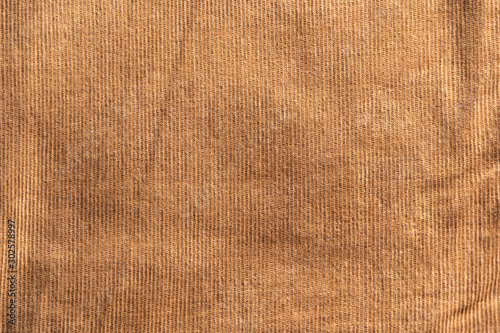 Surface of bright brown color corduroy cloth which is cotton and stretch Polyurethane Slika na platnu