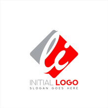 Initial Logo LI With Negative ...