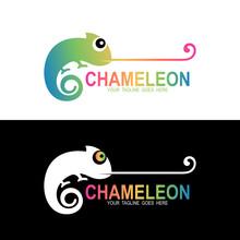 Chameleon Logo , Animal Icon D...