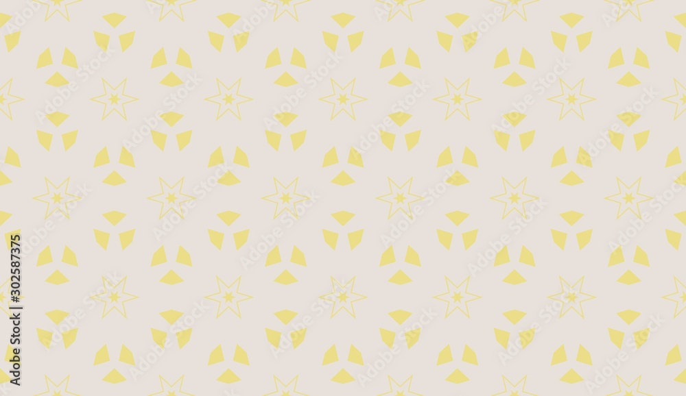 Yellow . Vector luxury abstract background. Vector seamless pattern