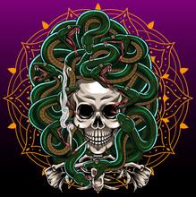 Medusa Skull Esport Mascot Logo Design