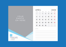 Monthly Desk Calendar With Pho...