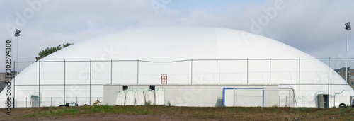 Fotografie, Obraz Mobile modern city basketball and football stadium made of an inflatable canvas