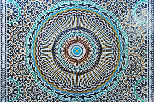 Fototapeta orientalna   closeup-of-colourful-moroccan-tiles