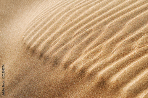 Abstract closeup of desert sand pattern in the Sahara desert of Morocco.