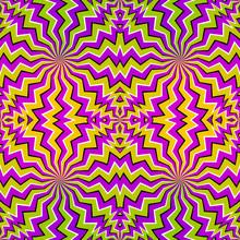 Colorful Zigzags. Spin Illusio...