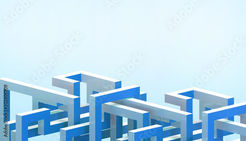 Cuadros en Lienzo  Abstract Architecture business modern Background Structure Geometric  and concep