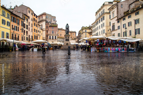Photo Campo de Fiori in Rome, maybe its best market place