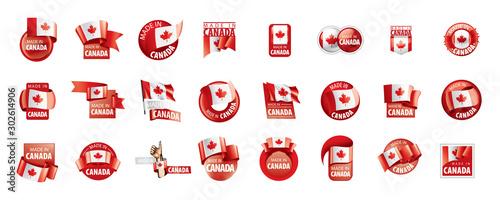 Obraz na płótnie Canada flag, vector illustration on a white background