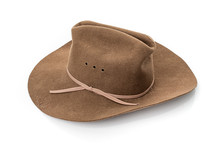 Cowboy Hat Closeup Isolated On...