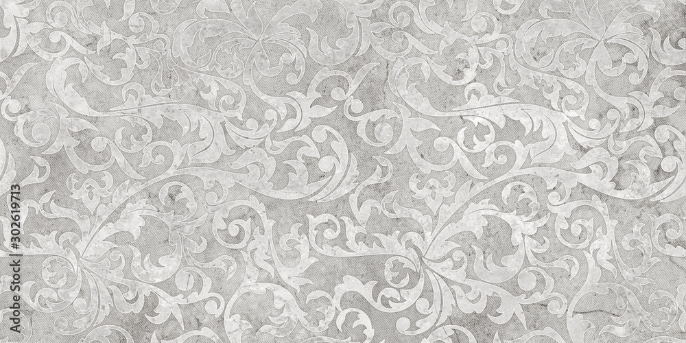 Fototapeta seamless background with flowers and leaves