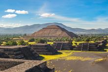 Pyramid Of Sun In Teotihuacan,...