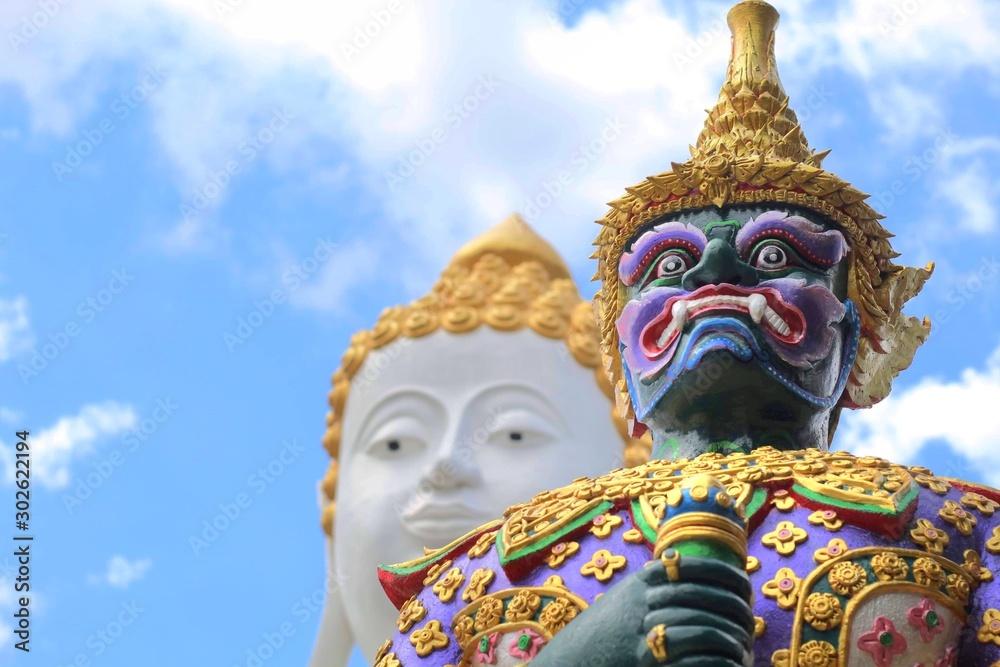 Fototapety, obrazy: statue of buddha in thailand
