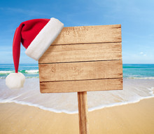 Christmas Party On Beach Signb...