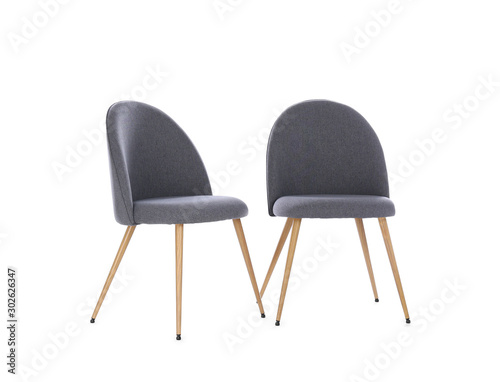 Foto  Comfortable chairs isolated on white. Interior elements